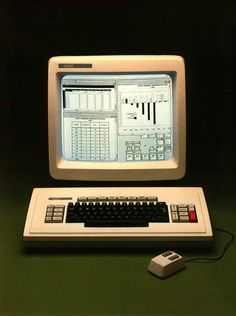 """Xerox Star """"represented the most complete implementation of the 'Desktop Metaphor' of any system until the advent of mature Desktop graphical interfaces later on the Mac and PC/Unix/Linux in the Alter Computer, Computer Love, Home Computer, Computer Technology, Technology Gadgets, Computer Science, 8 Bits, Retro Arcade, Retro Futurism"""