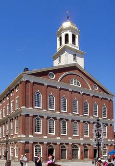 """Faneuil Hall, Boston, Massachusetts has been a marketplace and a meeting hall since 1742.  It was the site of several speeches by Samuel Adams, James Otis and others encouraging Independence from Great Britain.  It is now part of Boston National Historical Park and a well-known stop on the Freedom Trail.  It is sometimes referred to as """"The Cradle of Liberty""""."""