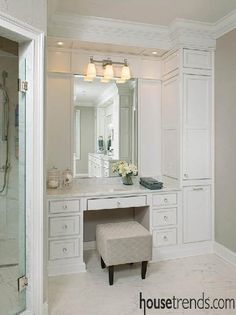 Bathroom storage cabinet keeps things neat and tidy
