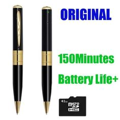 Qmate@ Mini HD Spy Camera Cam Pen Hidden Video Camera Recorder DV DVR w/ 8gb Card Support Micro Sd Card 4GB 8GB 16GB Long Battery Life by Guanghui Technology Co,Ltd. $15.95. When you search a Pen video camcorder on Amazon, you can find many same  Pen video camcorder with the same   photo or function. May you don't know in fact, there are big differences inside?   Here are the big differences.  1. Battery Life  Fake: about 50minutes non-stop working   Original: 150minutes n...