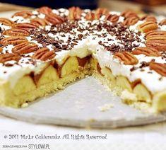 Karmelowa tarta z bananami składniki: ciasto: 250g mąki… na Stylowi.pl