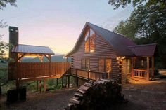 Would love this little cabin in the woods overlooking Waynesville, NC