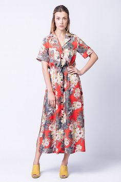 Reeta Midi Shirt Dress - Named