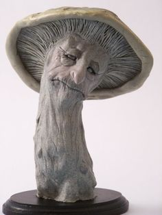 OOAK Art Doll Mushroom Faerie Creature in polymer by TribalFaeries, $125.00