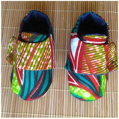 Ankara Wax Cloth Baby Shoes/ Forest by nenasoulfly on Etsy, $36.00