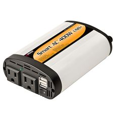 Wagan SmartAC 400 Watt Continuous Power Inverter with 2 USB Charging Ports