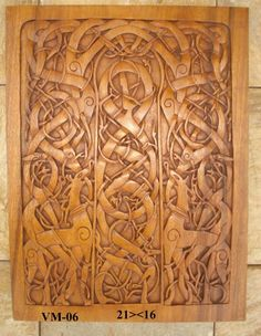 panel from the churche of urnes in norway