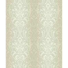 "York Wallcoverings Glam 33' x 20.5"" Damask Wallpaper & Reviews | Wayfair"