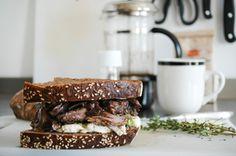 lamb shank, brie, pumpernickel, rye bread, thyme, mint, best sandwich, glorious sandwiches, Lamb Shanks, Rye Bread, Best Sandwich, Brie, Meal Prep, Food To Make, Sandwiches, Mint, Cooking