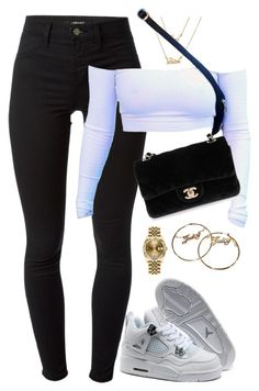 """""""so player"""" by hosana-317 ❤ liked on Polyvore featuring J Brand, NIKE, Chanel, Juicy Couture and Rolex"""