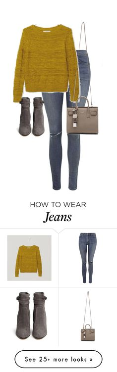 """Untitled #10389"" by alexsrogers on Polyvore featuring Topshop, LOFT, Gianvito Rossi and Yves Saint Laurent"