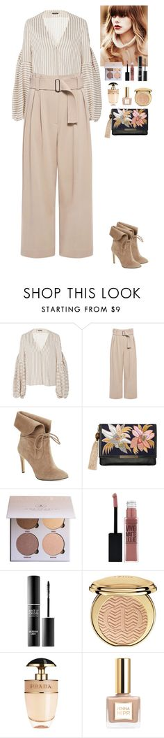 """""""Nude outfit"""" by eliza-redkina on Polyvore featuring мода, Hellessy, A.L.C., 424 Fifth, Lizzie Fortunato, Anastasia Beverly Hills, Maybelline, MAKE UP FOR EVER, Christian Dior и Prada"""