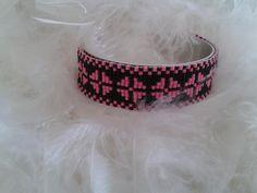Bracelet manchette tissé avec des perles miyuki : Bracelet par yedura