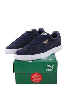 144aeb6fb2 Puma men peacoat navy white suede classic+ 356568-52