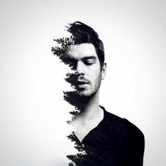 Landscapes and Architecture Mixed in Double Exposure Portraits by Erkin Demir, http://inspiredvox.com/erkin-demir-double-exposure/