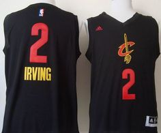 8dcc2b916a Cavaliers #2 Kyrie Irving Black New Fashion Stitched NBA Jersey Retro Nba  Jerseys, Throwback