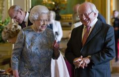 Historic: Irish President Michael D Higgins arrived in Britain to meet the Queen for his country's first ever visit by a head of state