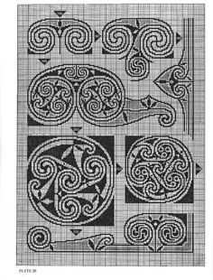 Gallery.ru / Фото #27 - Celtic Charted Designs - thabiti. I especially like the spade-like one on the upper right side.