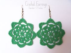 dandelion sunrise: Crochet Earrings Pattern #3
