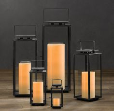 Amalfi Square Lanterns by restorationhardware #Lantern #Outdoors #restorationhardware