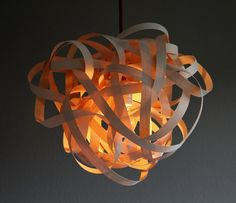 Lamp BIRDSNEST Maple Wood Pendant Lamp 40cm by concreteedesign