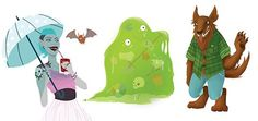 Monster collection 3 - Hannah Hitchman #monsters #childrensbook #illustration #hannahhitchman