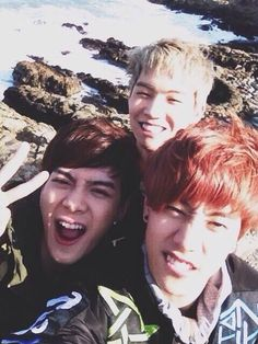 Got7 - Jackson,  JB,  Mark. For some reason I really like this picture :)