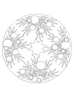 coloring page Mandala Christmas on Kids-n-Fun. Coloring pages of Mandala Christmas on Kids-n-Fun. More than coloring pages. At Kids-n-Fun you will always find the nicest coloring pages first! Cool Coloring Pages, Mandala Coloring Pages, Adult Coloring Pages, Coloring Sheets, Printable Coloring Pages, Coloring Books, Christmas Colors, Christmas Crafts, Christmas Ornaments