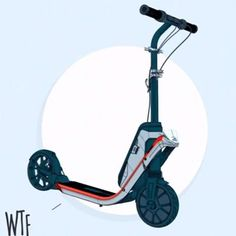 Oxelo Klick Easy To Fold Electric Scooter Scooter Design, Bike Design, Electric Scooter, Electric Cars, Tricycle Bike, Kick Scooter, 3rd Wheel, Design Research