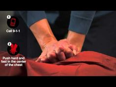 Hands-Only CPR Demo Video from the American Heart Association #CPR #emergency #firstaid