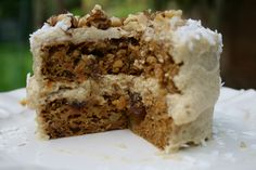Vegan Carrot Cake with Pineapple Coconut Cream Cheese Frosting!