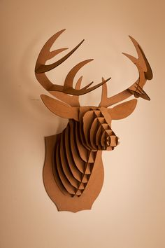 Cardboard Safari Mounted Animal Trophies-love for little boy's room