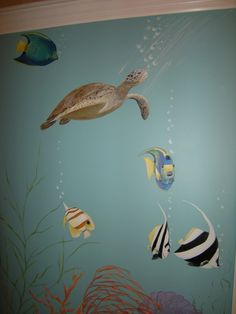 Under Sea Life - Turtles and Fish Mural