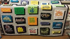 T-shirt quilt made fory daughter from Musical shirts.