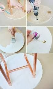 Resultado de imagem para Copper Pipe Icosahedron Light Fixture