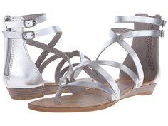 dfa2e1c96c65 Blowfish Bungalow Silver Wedge Sandals
