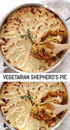 A colorful vegetable medley and a rich brown gravy make this Vegetarian Shepherd's Pie just as satisfying as its beef counterpart. Vegetarian Nut Roast, Vegetarian Shepherds Pie, Vegetarian Freezer Meals, Pie Recipes, Veggie Recipes, Real Food Recipes, Vegetarian Recipes, Pumpkin Vegetable, Vegetable Pie