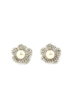 Crystal Pearl Blossoms | Emma Stine Jewelry Earrings