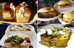 #TUM Collage: @RockLobsterFood Rolls, @FidelGastros Cubans, @theslowroom bacon/chorizo sloppy joes and @ComidaDelPueblo Comida del Peublo Corn bread Grilled Cheese. By @LorraineYoung ~ April 2012, #TUM