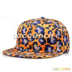 Men Women Colorful Leopard Dotted Pattern Print Cap Yellow