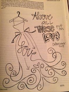 MS woman's journaling Bible illustrations goes viral - FOX Carolina 21 Faith Bible, My Bible, Bible Scriptures, Bible Drawing, Bible Doodling, Scripture Art, Bible Art, Scripture Doodle, Beautiful Words