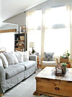 How to transform the look of a room with custom slipcovers.   MyFabulessLife.com