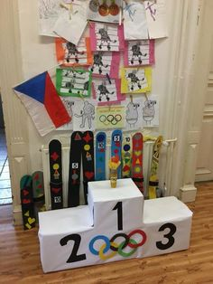 Olympic Idea, Olympic Games, Teacher Classroom Decorations, Classroom Themes, Kids Olympics, Summer Olympics, Sports Day Decoration, Theme Sport, Olympic Crafts