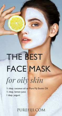 Natural Beauty DIY: 6 Coconut Oil Face Masks Lemon, Yogurt and Face Mask For This face mask works to nourish & hydrate your skin cells while also working to protect your skin. Tips For Oily Skin, Mask For Oily Skin, Oily Skin Care, Skin Tips, Dry Skin, Skin Mask, Smooth Skin, Tomato Face, Coconut Oil For Face