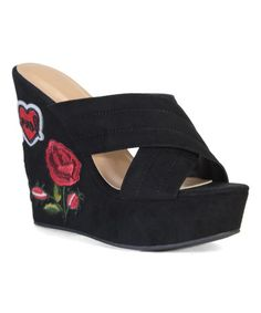 This Black Charade Wedge Sandal is perfect! #zulilyfinds