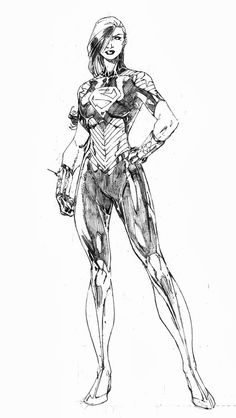 Superwoman by Brett Booth. Progeny of Clark and Diana?