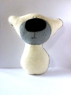 Made to order - Plush Handmade Eco Friendly Toy - Nursery Decor - Baby Shower Gift - Pablo the Polar Bear