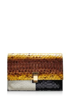 The Lunch Bag Small Color Block Python Clutch by PROENZA SCHOULER Now Available on Moda Operandi
