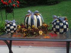 Hand painted pumpkins for fall!