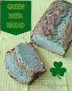Green Beer Bread Recipe - Easy St Patrick's Day Baking - Thrifty Jinxy